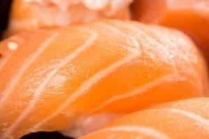 salmon weigh gain