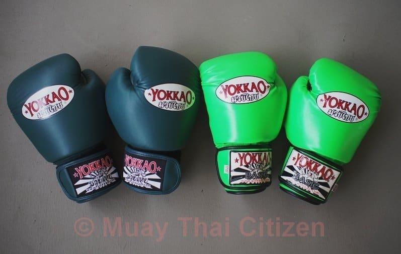 yokkao Vintage Muay Thai Boxen Handschuhe blau