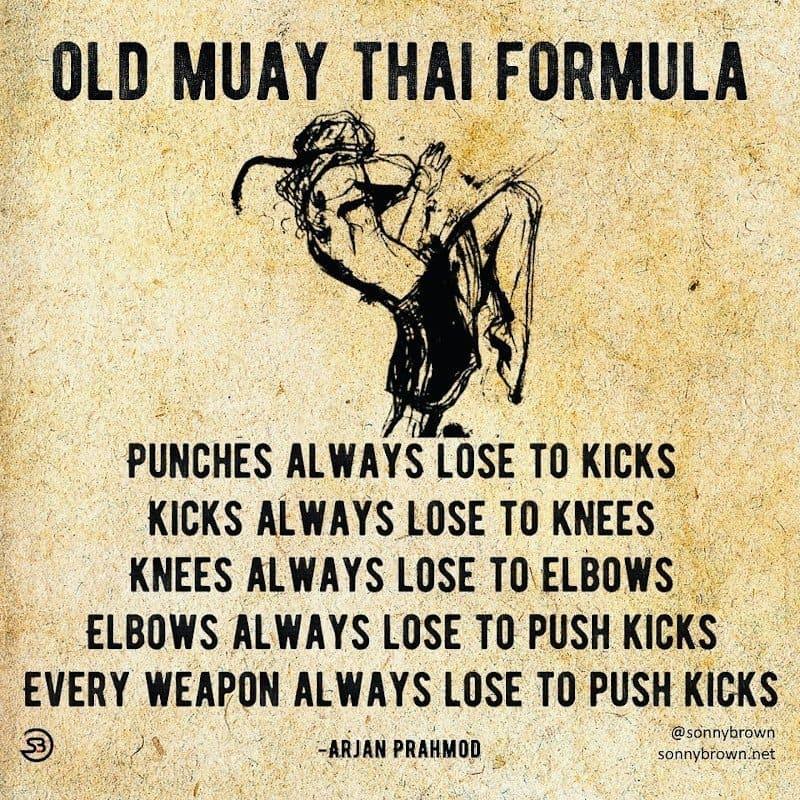 muay thai teep kick