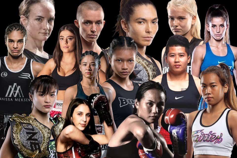 female muay thai fighters
